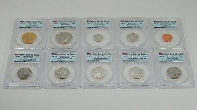 2017-S 10 Coin Enhanced Uncirculated Set PCGS SP70 Denver ANA FDI Flag Label
