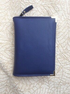 Genuine Navy l  leather bible cover for standard new world version (DLbi12-E)