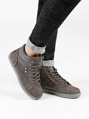 Sneakers alte scamosciate Donna
