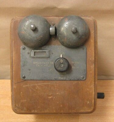 Vintage Telephone Exchange Switch Board Equipment Unit For An Early Desk Phone ?
