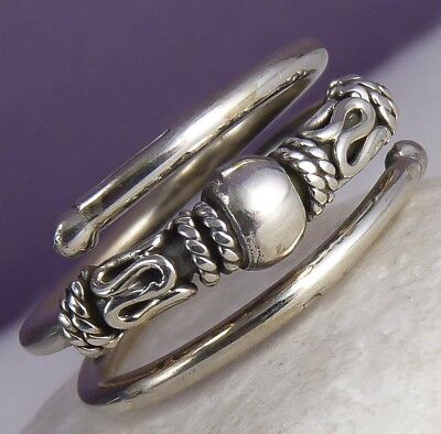 Adjust. (US 8-9) SilverSari Filigree Finger/Thumb Ring Solid 925 Sterling Silver