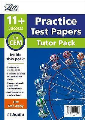 11+ Mock Test Papers Tutor Pack for CEM Inc Audio Download (Letts 11+ Success),