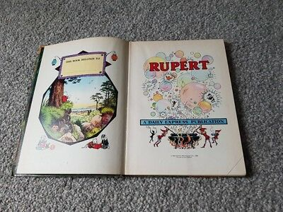 Rupert Annual 1968 - Original edition - Rupert the Bear Daily Express - Bestall