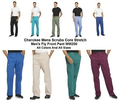 Cherokee Mens Scrubs Core Stretch WW200 Pants All Colors And All Sizes NWT