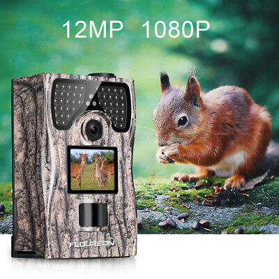 Full HD 1080P 12MP Hunting Camera Trail Camera Night Vision 120° Remote Control