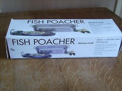 Kitchen Craft Stainless Steel Fish Poacher 45cm 18 inches Boxed* Used Once