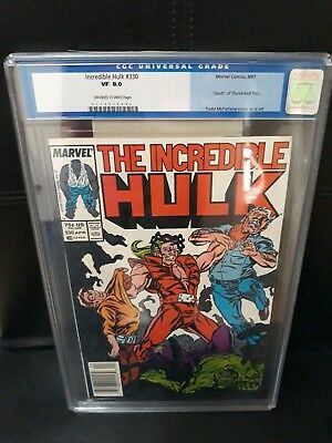 Hulk 330 CGC 8.0  Mc Farlane starts on Hulk