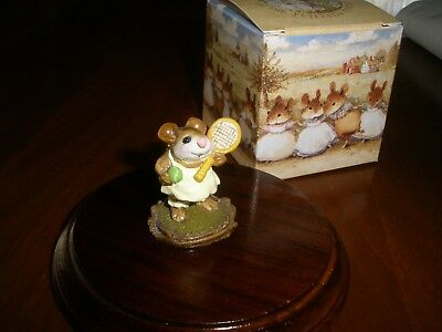 Wee Forest Folk Tennis Anyone 1984 MS-13 Mouse Figurine MIB Tennis Player Mouse