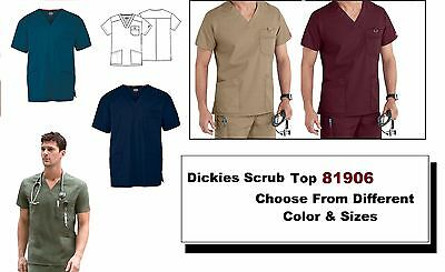 Dickies Mens Scrubs EDS Signature Top 81906 V-Neck All Colors All Sizes NWT