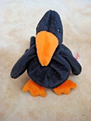 TY Beanie Babies Plush Caw The Crow 1995 Retired NEW w  Tags 3rd Generation 1f71d80b8730