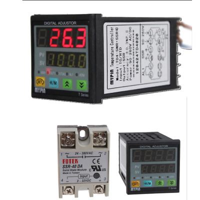 F/C Digital PID TD4-SNR Temperature Controller Solid State Replay SSR + SSR-40DA