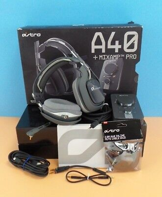 Astro A40 Grey Headband Headsets for PS4 PS3 PC MAC in box Read #grey40