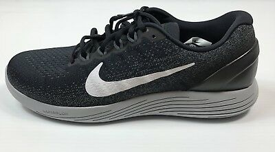 a34456d319c85 Mens Nike Lunarglide 9 Running Shoes Black White Grey Size 10.5 904715 001