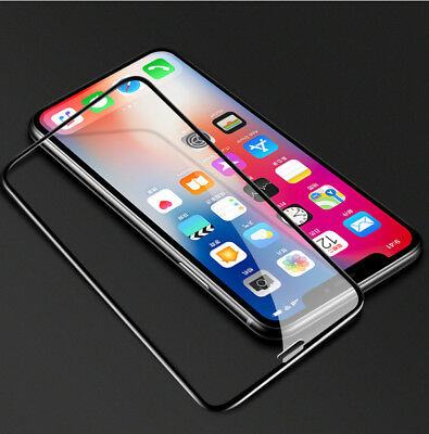 Fits For iPhone Xs Max Xr Screen Protector Tempered Glass 3D Curved Full Cover