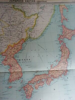 Map of the Japanese Empire Large 1922 Original.
