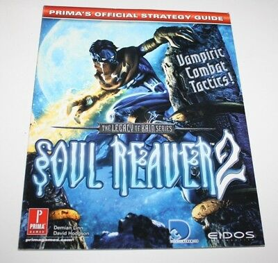 ++ PRIMA'S official strategy guide LEGACY OF KAIN SOUL REAVER 2 playstation ++