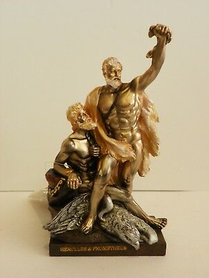 Hercules & Prometheus 8.3'' Figurine  Statue  Historic Collect Greek Mythology