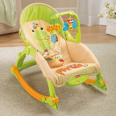 Fisher-Price RainForest Newborn-to-Toddler Baby Portable Rocker Vibrating Chair