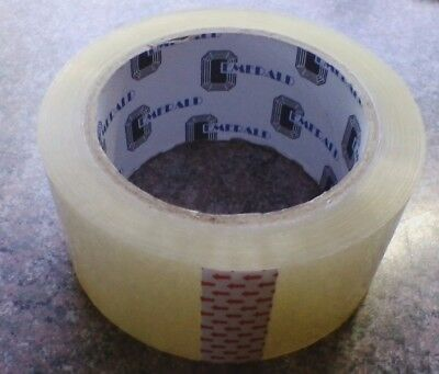 "Usps Clear Tape Roll No Logo Free Shipping Heavy Duty Packing Tape 2"" X 330'"