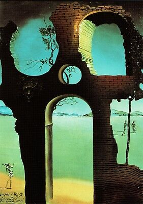 Ruin with head of Medusa and Landscape 1941 Salvador Dali Poster Canvas A0-A4