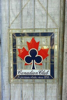 """Vintage/collectable """"canadian Club Stain Glass Sign"""""""