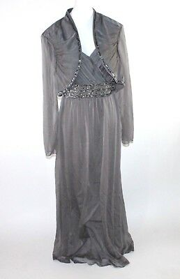Ignite Evenings By Carollin Plus Size 24W Full Length Beaded Gown Jacket Dress