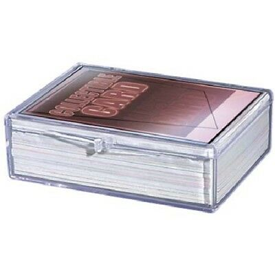 Lot of 5 Ultra Pro 50ct Count Hinged Clear Card Storage Box Boxes New
