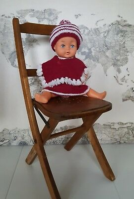 Vintage Palitoy Tiny Tears Doll 3/4 Eye -  Vintage Hand Knitted Outfit