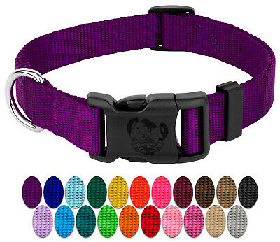 Country Brook Design® Deluxe Nylon Dog Collars-Various Colors & Sizes Available