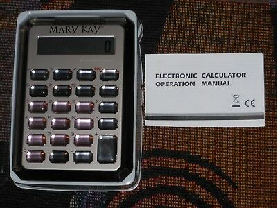 Mary Kay Silver Calculator Pink And Clear Crystal Buttons