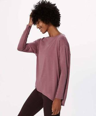 Lululemon Women's Back In Action Long Sleeve Shirt Top Tee FIGU Figue