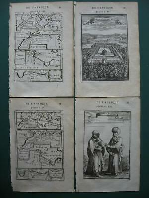 1683 - MALLET - NORTH AFRICA BARBARY 2 maps & 2 engravings