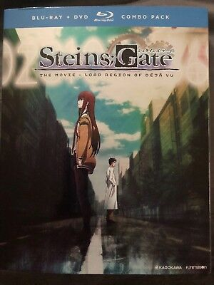 SteinsGate (Blu-ray/DVD Disc, 2017, 2-Disc Set) The Movie With Slipcover