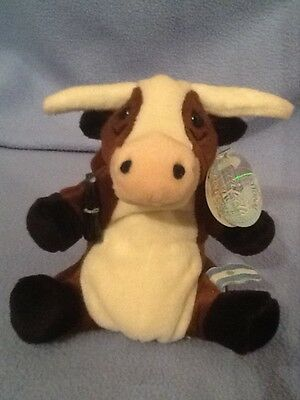 Coca Cola International Beanie VACA the Long Horn Cow From Argentina Bean Plush