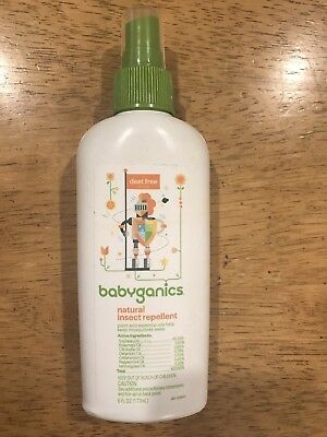 (NEW) Babyganics Natural Insect Repellent, Deet Free, 6 FL oz Spray exp 03/21