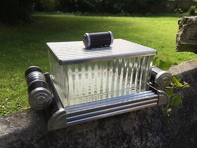 French Art Deco Mirror Tray Biscuit Box