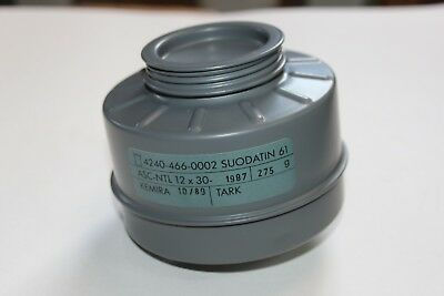 Finnish M61 Gas Mask Filter Canister NEW W19