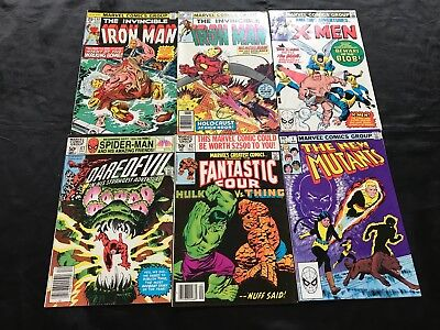 Lot Of 6 Bronze Age Marvel Variety Lot Comic Books, Iron Man, Fantastic Four, +