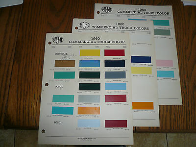 1960 Commercial Truck ZAC-LAC Color Chip Paint Sample GMC Chevy Dodge Ford REO