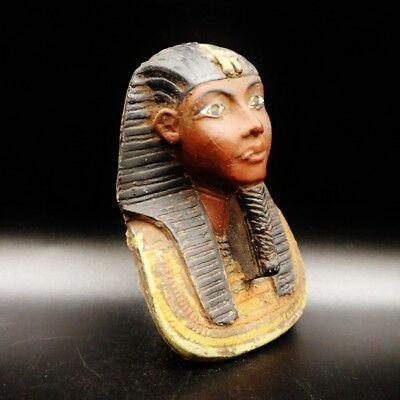 Stunning Large Antique Egyptian Pharaoh Mask Bust Figure.....ONE OF A KIND