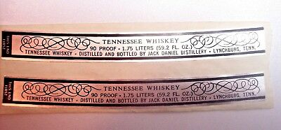 Jack Daniels Vtg 2 Unused Decanter Neck Labels 90 Proof 1.75 Tennessee Whiskey