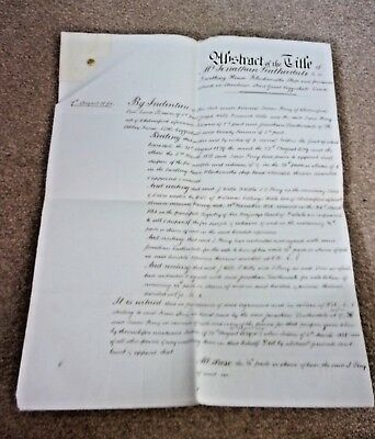 Antique Document.Abstract of Title of Mr. J. Leatherdale, Grt. Coggeshall, Essex