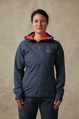 Rab Women's Vapour-rise Jacket... Windproof Softshell... Size 16