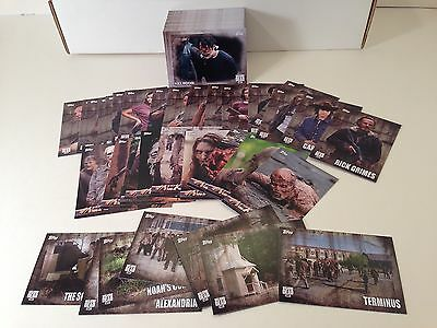 THE WALKING DEAD SEASON 5 Topps 2016 Complete Base Card Set (100) w/ 35 Chase