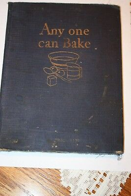 1929 Any One Can Bake - Advertising Cookbook By Royal Baking Powder Co.