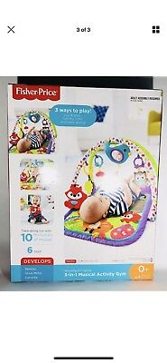 Fisher Price 3-in-1 Musical Activity Gym Woodland Friends Baby Infant Playmat