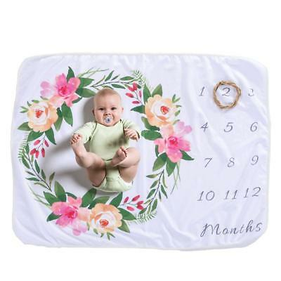Milestone Photography Newborn Baby Blanket Monthly Numbers Photo Prop Mats Q8A0