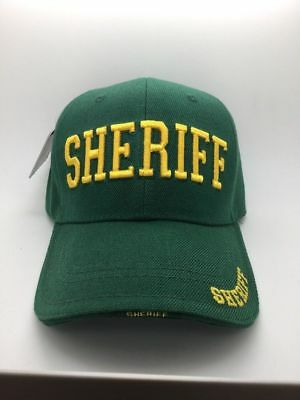 56abbf0afec  DEAL  County Sheriff Police Officer Deputy Cop Baseball green Ball Cap Hat