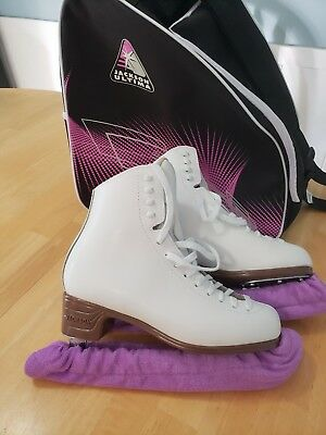 Jackson Mystique Figure Ice Skates size 7 C with bag and soakers
