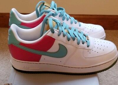 a301ba832f29 NIKE AIR FORCE 1 Hawaiian Gold Pink Blue Shoes Sneakers 315122-141 ...